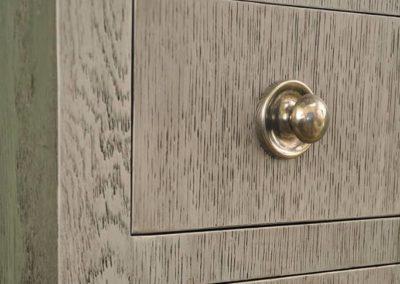 Pierre Sink Base in Silver Metallic Finish - detail